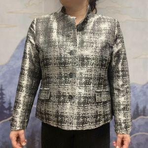 Tabi silver suit jacket -ladies XL
